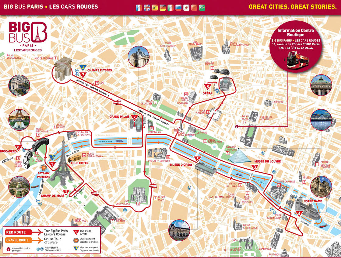 plan bus cars rouges paris